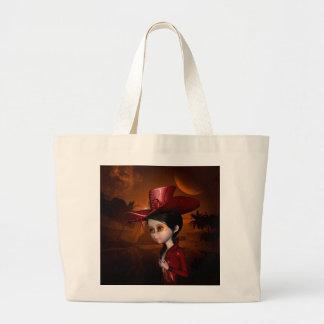 In the night, a wonderful girl jumbo tote bag