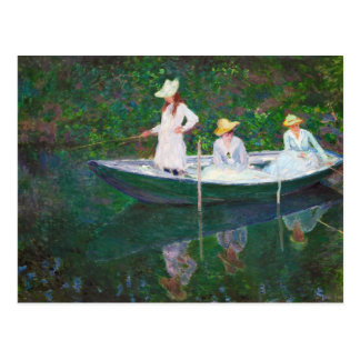 In the Norwegian Boat at Giverny Claude Monet Postcard