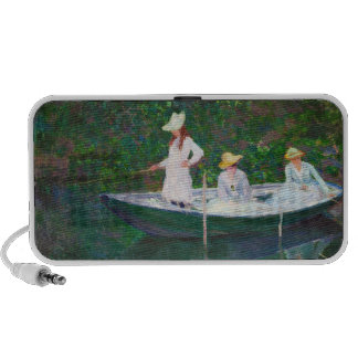 In the Norwegian Boat at Giverny Claude Monet Mini Speakers
