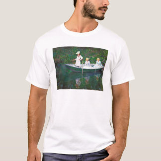 In the Norwegian Boat at Giverny Claude Monet T-Shirt