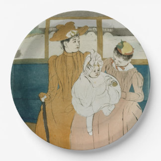 In the Omnibus by Mary Cassatt Paper Plate