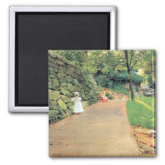 In the Park - A byway by William Chase Refrigerator Magnets