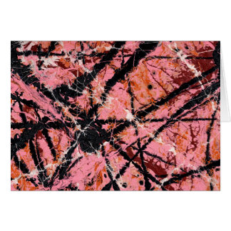 IN THE PINK (an abstract art design) ~ Greeting Card