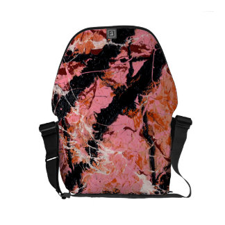 IN THE PINK (an abstract art design) ~ Messenger Bags