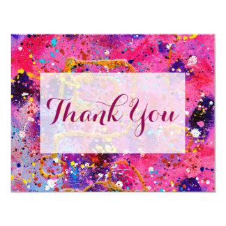 In the Pink Thank You Flat Card 11 Cm X 14 Cm Invitation Card