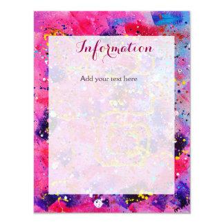 In the Pink Wedding Information Card 11 Cm X 14 Cm Invitation Card