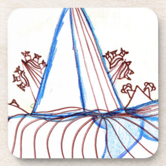 In the Planes of Pattern Dance Drink Coaster