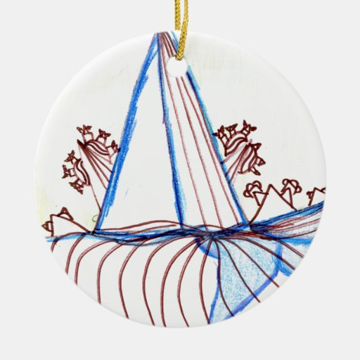 In the Planes of Pattern Dance Christmas Ornaments