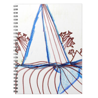 In the Planes of Pattern Dance Spiral Note Book