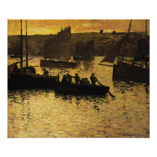 In the Port, 1895 Poster