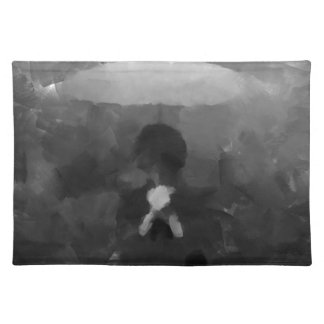 In the Rain Dark Art Painting Placemats