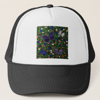 In the spring garden trucker hat