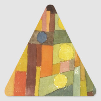 In the Style of Kairouan by Paul Klee Triangle Sticker