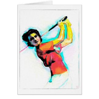 In The Swing  - Golf Greeting card