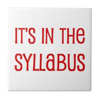 in the syllabus ceramic tile