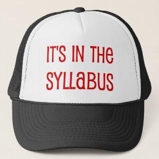 in the syllabus trucker hat