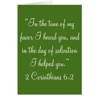 """In the time of my favor"" Scripture Greeting Card"