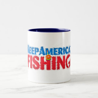 In the water with every sip Two-Tone coffee mug