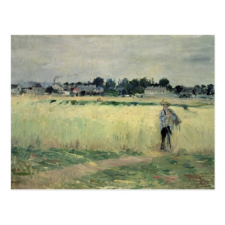 In the Wheatfield at Gennevilliers, 1875 Postcard