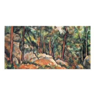 In The Woods By Paul Cézanne (Best Quality) Picture Card