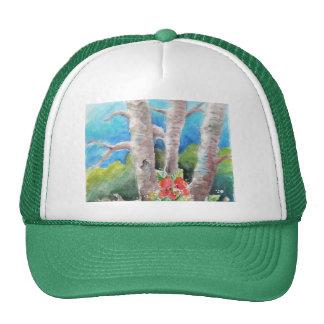 In the Woods Custom Watercolor Design Cap