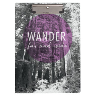In The Woods | Wander Far and Wide Quote Clipboard