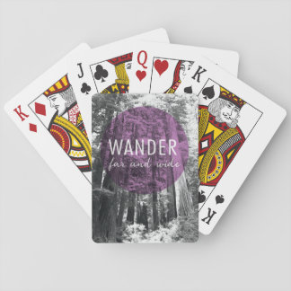 In The Woods | Wander Far and Wide Quote Playing Cards