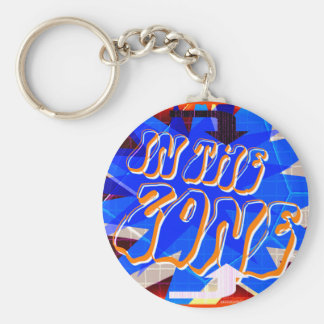 In The Zone (dark version) Basic Round Button Key Ring