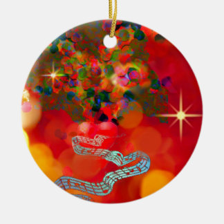 In these days our hearts are full of joy. ceramic ornament