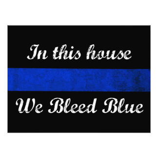 In this house We Bleed Blue Photo Print