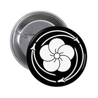 In three chasing pine needles 捻 ji plum 6 cm round badge
