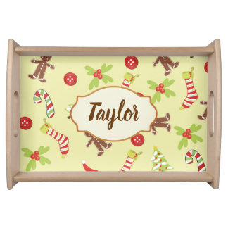 In time for the Holidays Gingerbread Man Serving Tray