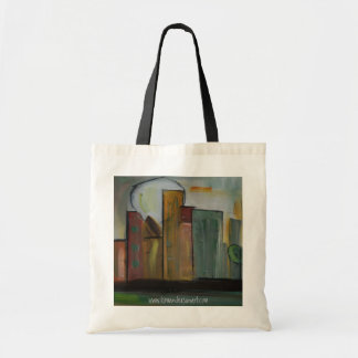 """in Town"" Grocery bag by Kim Anderson Art"