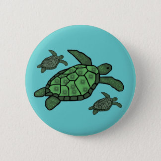 In Triple sea turtles button