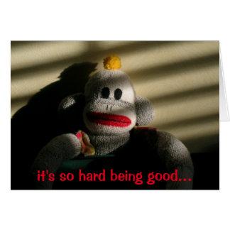In Trouble Monkey Blank Card