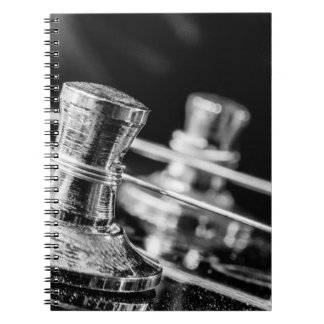 In Tune electric guitar strings tuning posts Notebooks