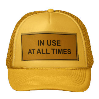 IN USE AT ALL TIMES CAP TRUCKER HAT