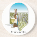 In Vino Veritas Wine coasters