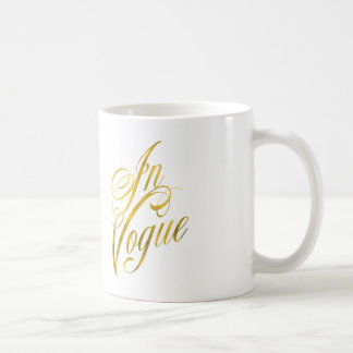 In Vogue Quote Faux Gold Foil Metallic Fashion Coffee Mug