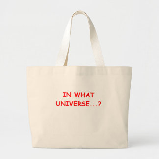 in what universe large tote bag