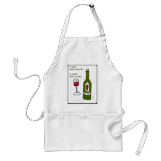 IN WINE THERE IS TRUTH...print by jill Standard Apron