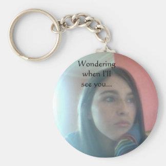 In wonderance basic round button key ring