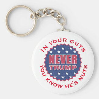 """In your guts you know he's nuts"" & ""Never Trump"" Key Ring"