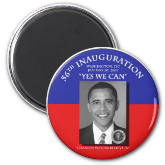 Inaugural 2009 Barack Obama Change We Can Magnet