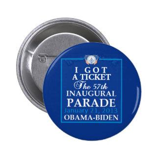 Inaugural 2013 6 cm round badge