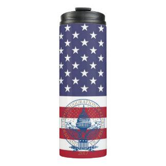 Inauguration Day 2017 Trump Logo American Flag Thermal Tumbler