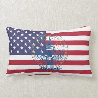 Inauguration Donald Trump Logo American Flag USA Lumbar Cushion