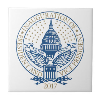 Inauguration Donald Trump Mike Pence 2017 Logo USA Tile