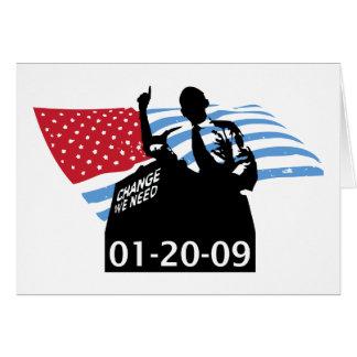 Inauguration Obama Card