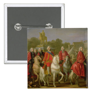 Inauguration of the Place Louis XV 15 Cm Square Badge